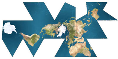Dymaxion Map - click to animate