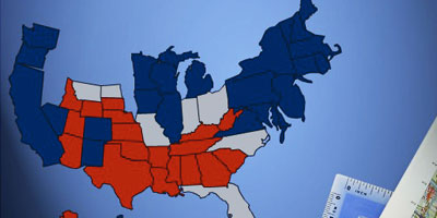 The real electoral map - Click to watch video morph