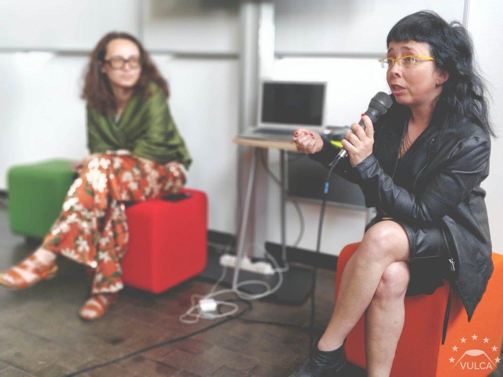 Denisa Kera (left), me (right), pic by Vulca